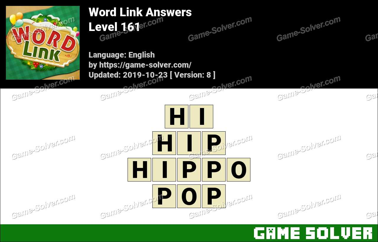 Word Link Level 161 Answers