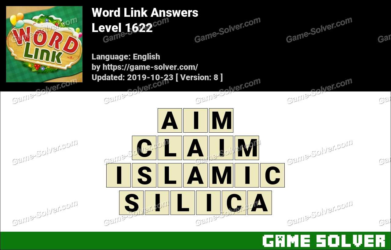 Word Link Level 1622 Answers