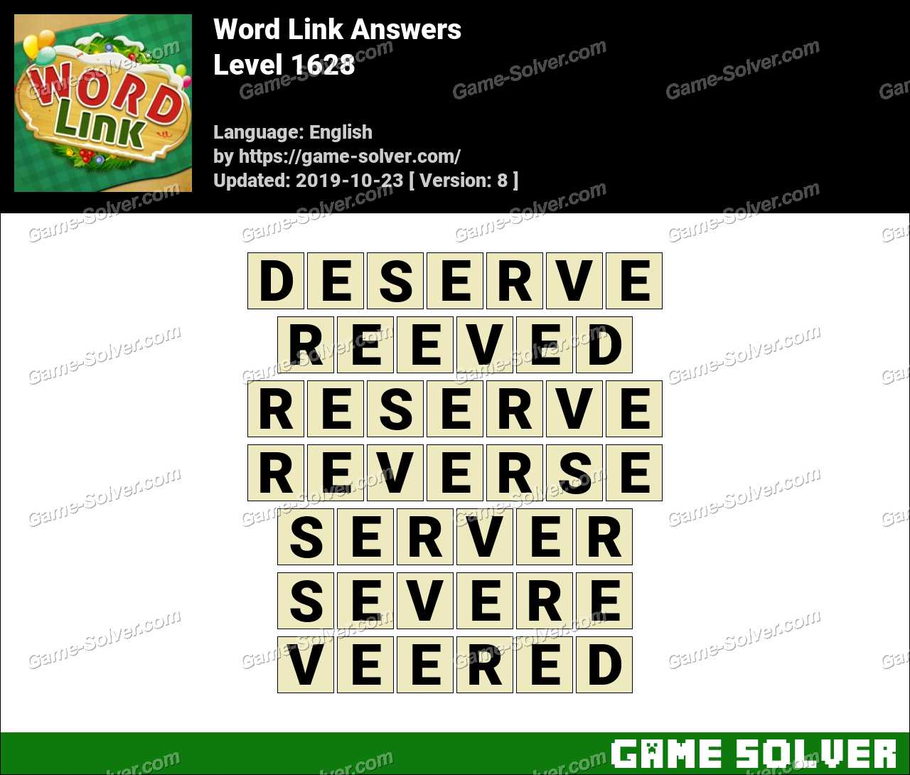 Word Link Level 1628 Answers