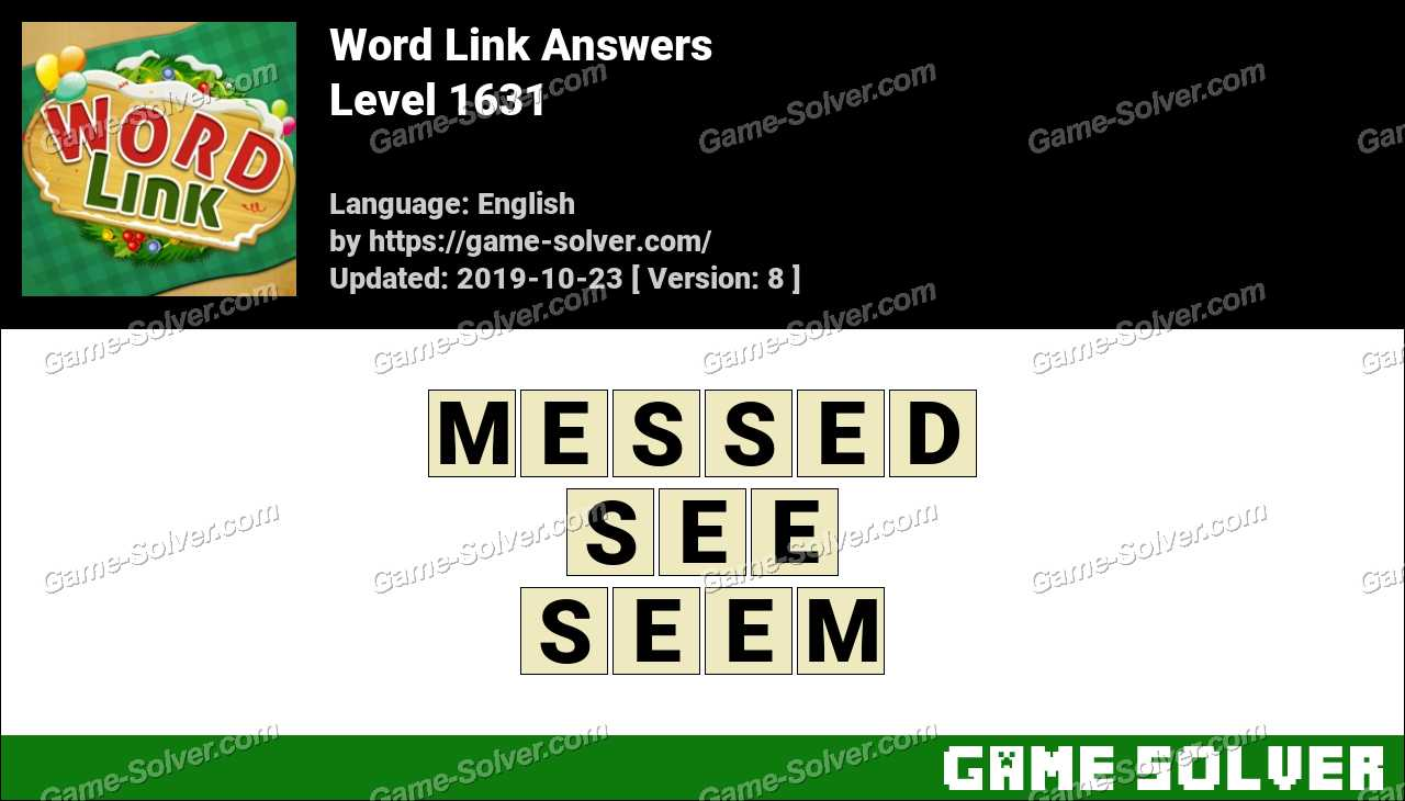 Word Link Level 1631 Answers