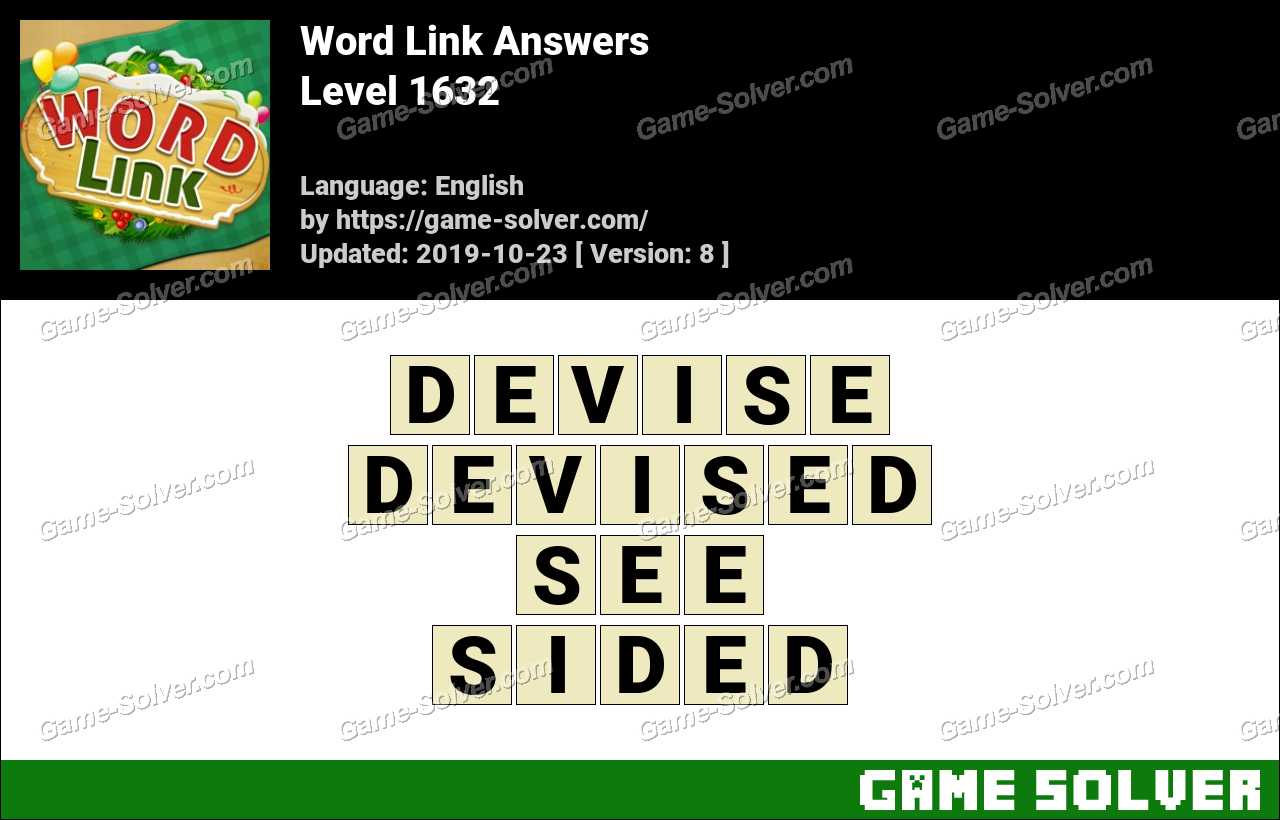 Word Link Level 1632 Answers