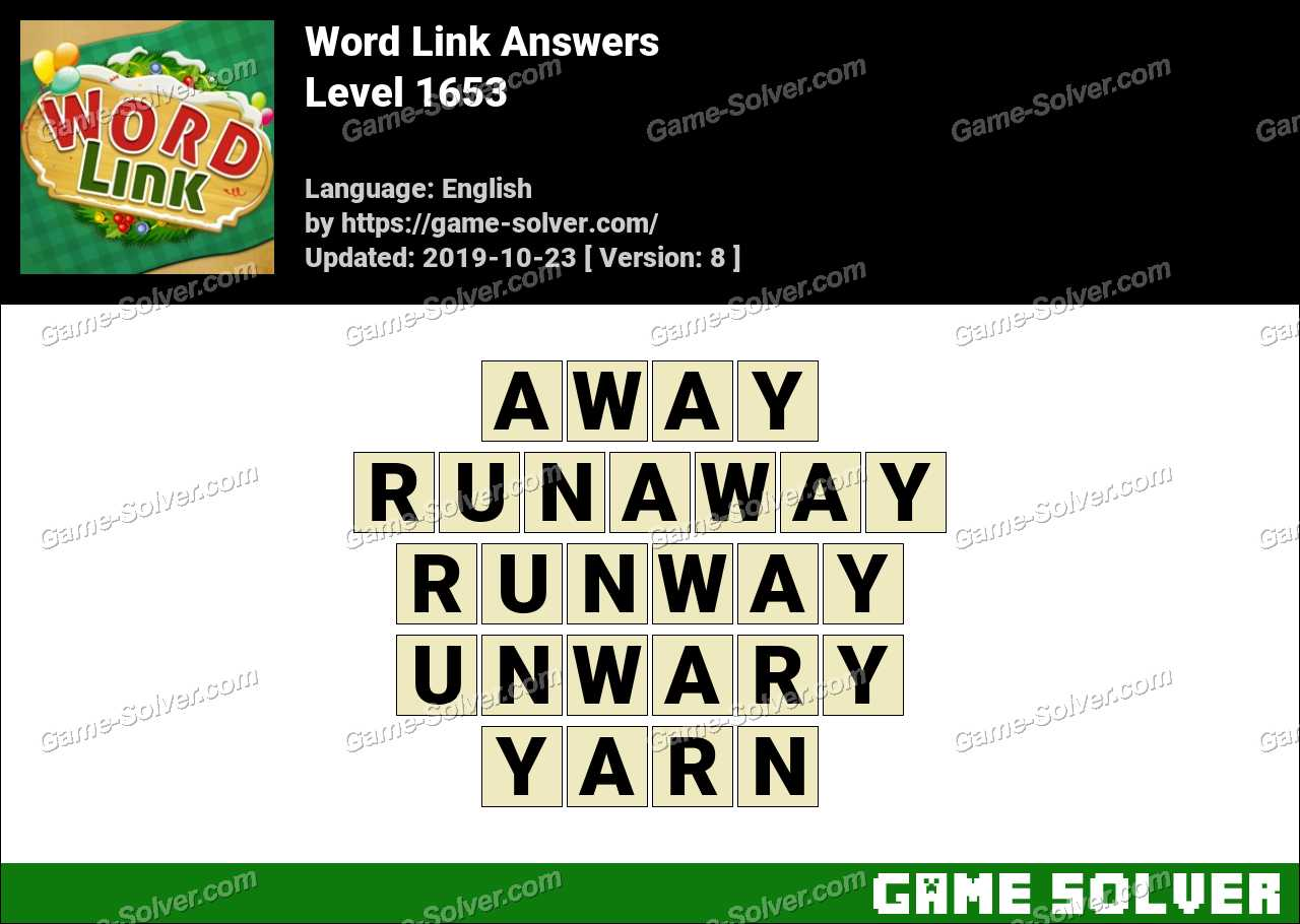 Word Link Level 1653 Answers