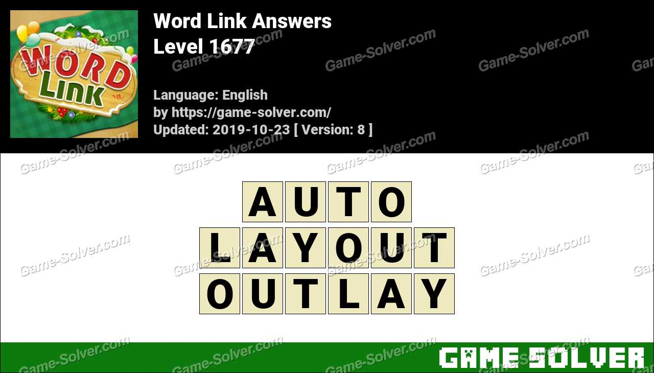 Word Link Level 1677 Answers