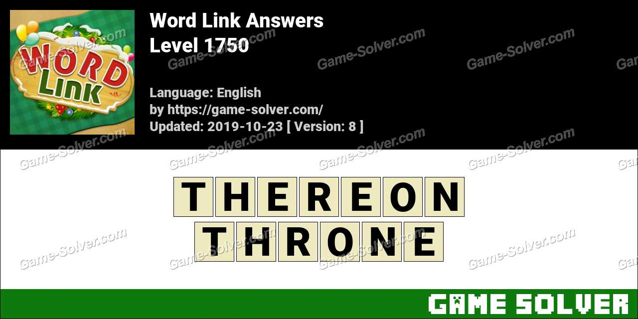 Word Link Level 1750 Answers