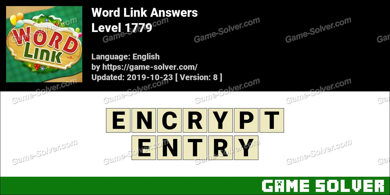 Word Link Level 1779 Answers