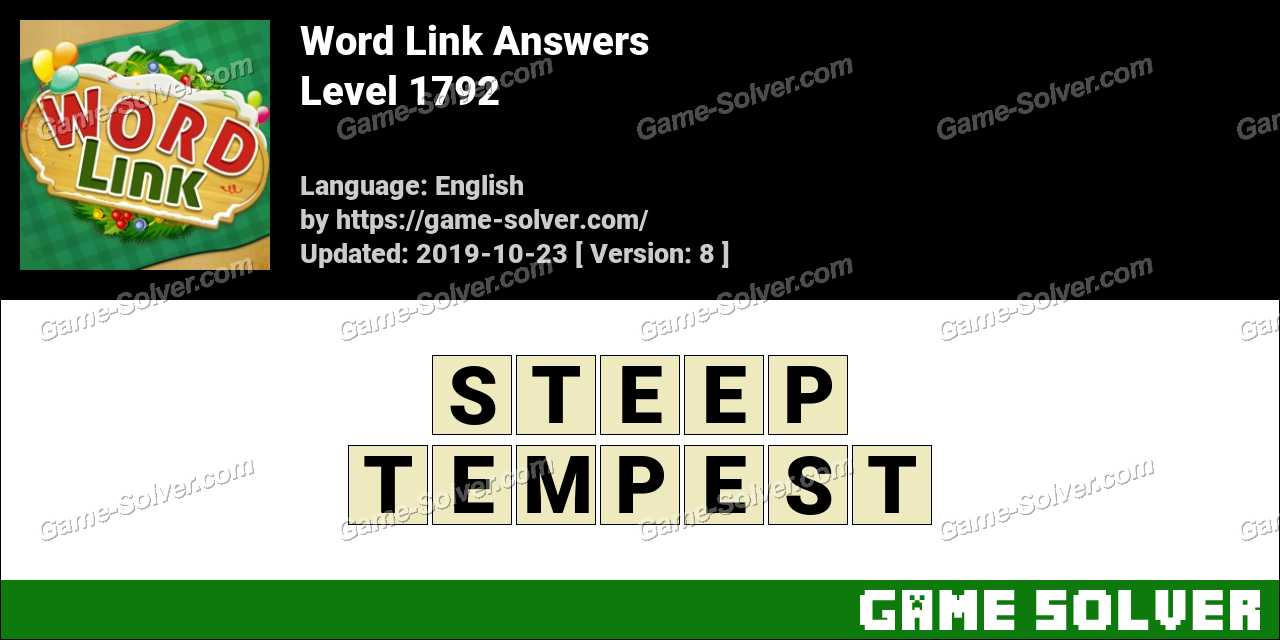 Word Link Level 1792 Answers