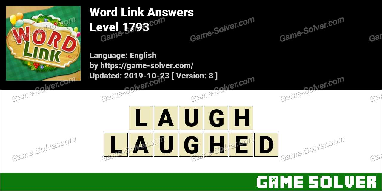 Word Link Level 1793 Answers