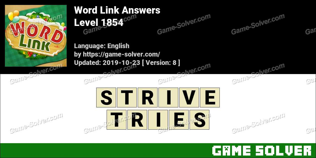Word Link Level 1854 Answers