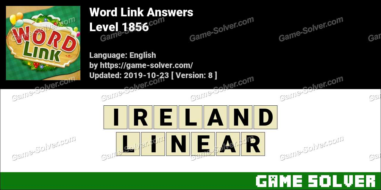 Word Link Level 1856 Answers