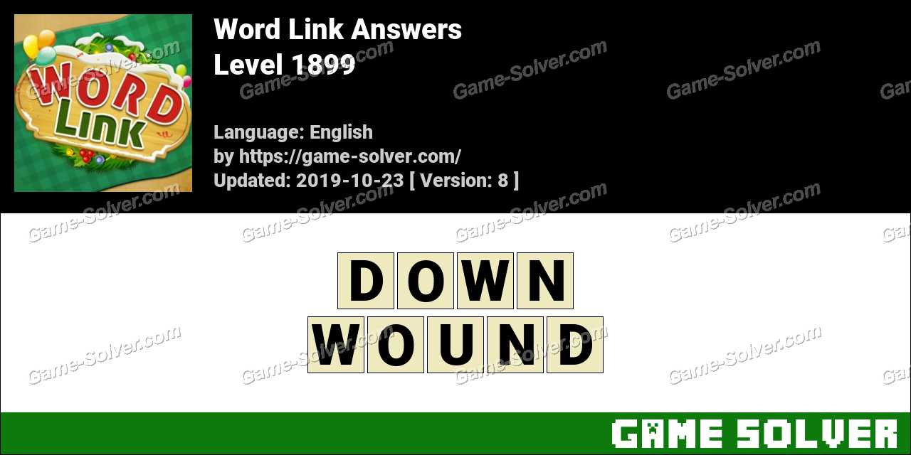 Word Link Level 1899 Answers