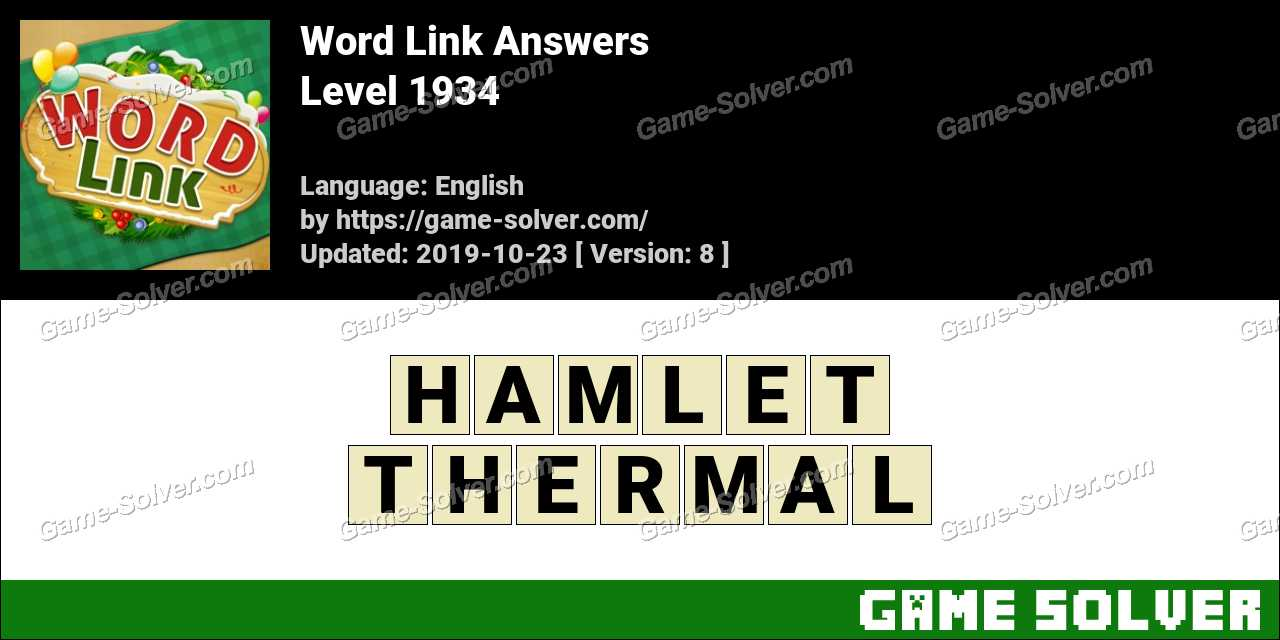 Word Link Level 1934 Answers
