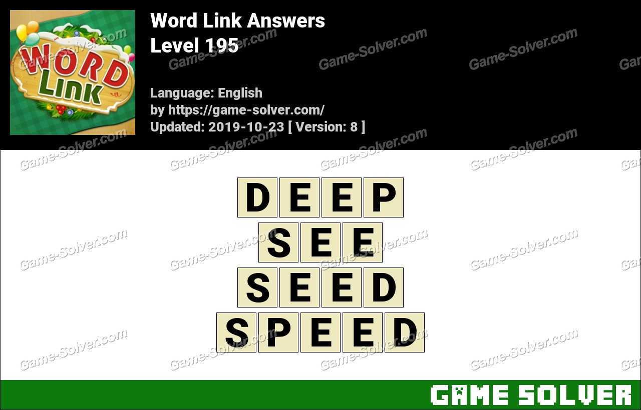 Word Link Level 195 Answers