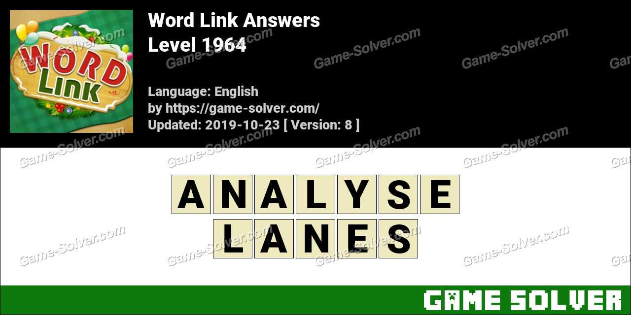 Word Link Level 1964 Answers