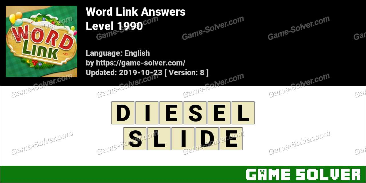 Word Link Level 1990 Answers