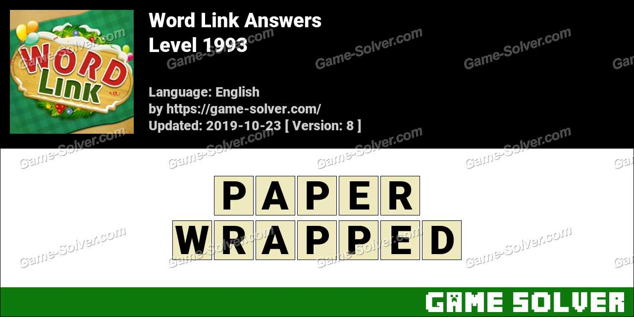 Word Link Level 1993 Answers