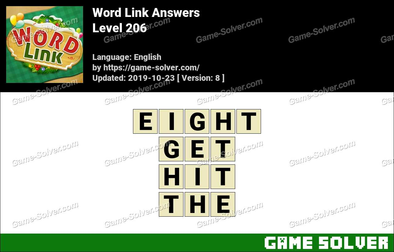 Word Link Level 206 Answers
