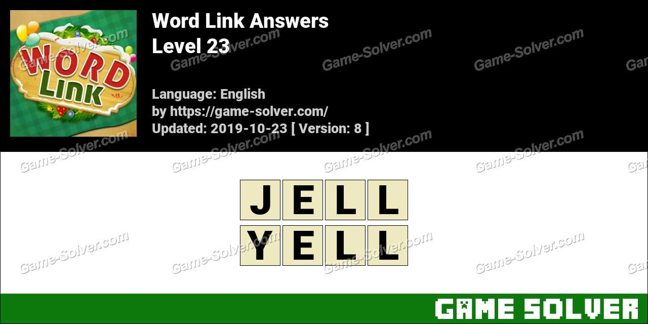 Word Link Level 23 Answers