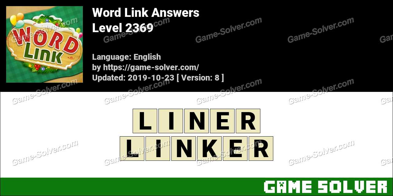 Word Link Level 2369 Answers