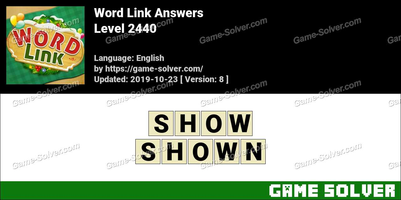 Word Link Level 2440 Answers