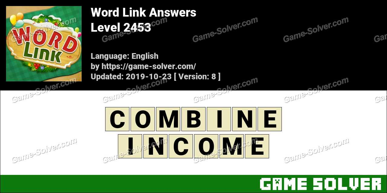 Word Link Level 2453 Answers