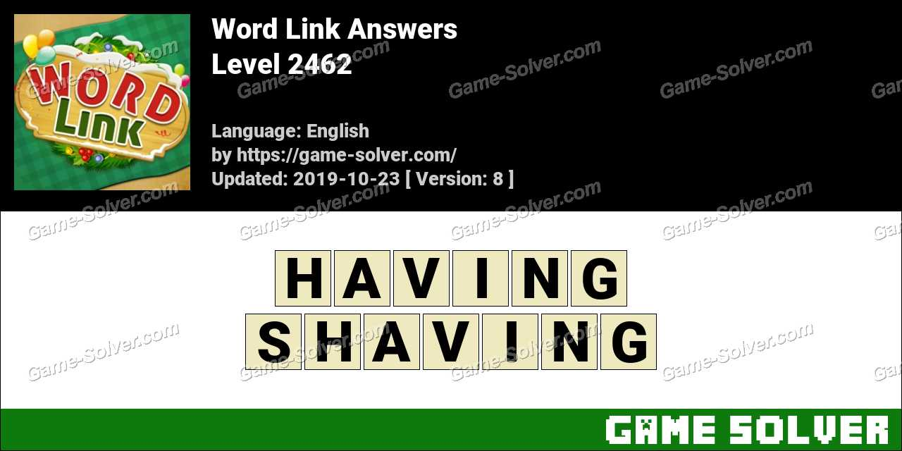 Word Link Level 2462 Answers
