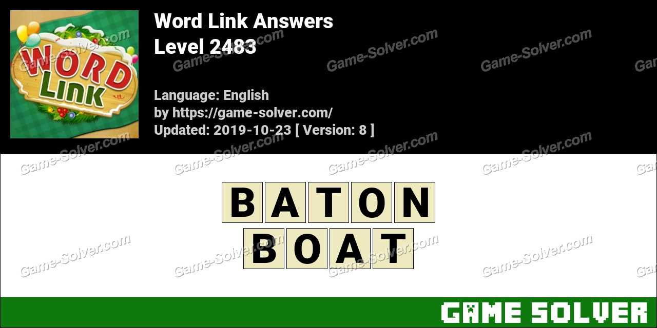 Word Link Level 2483 Answers