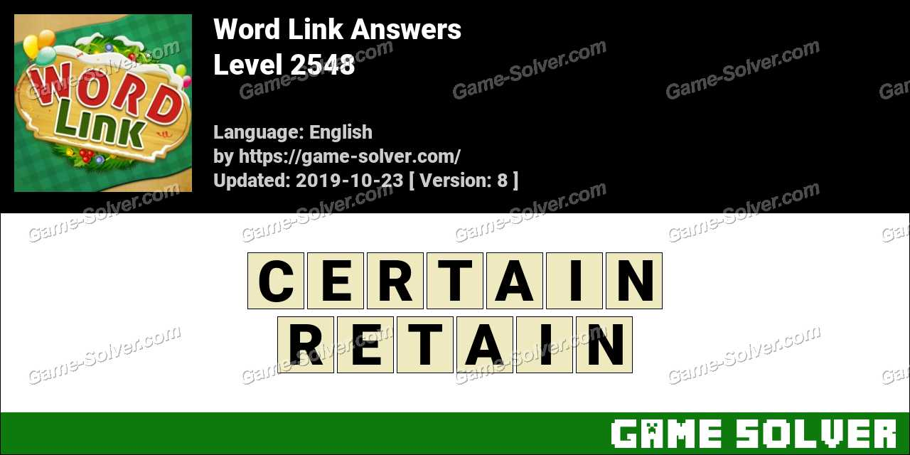 Word Link Level 2548 Answers