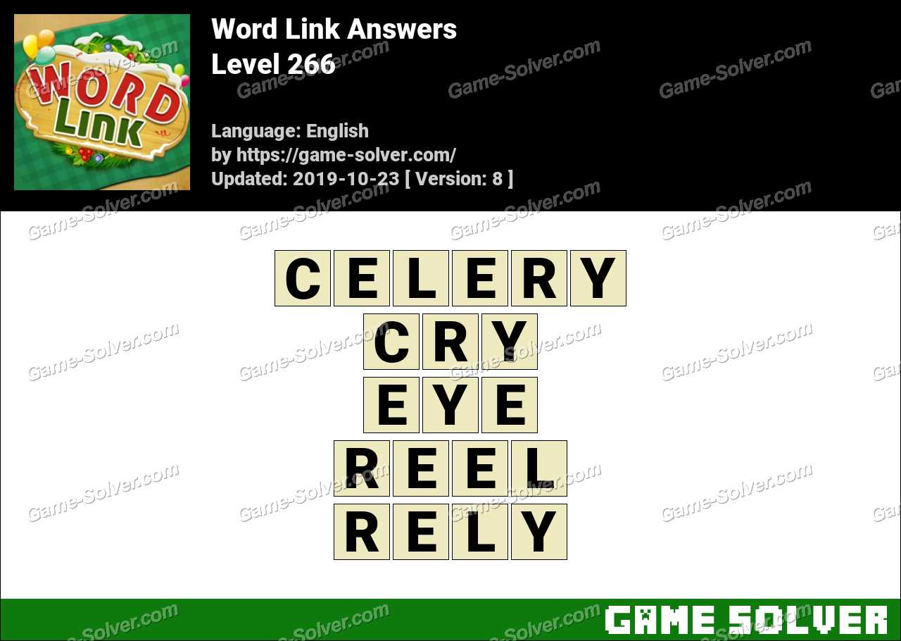 Word Link Level 266 Answers