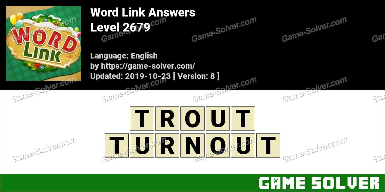 Word Link Level 2679 Answers