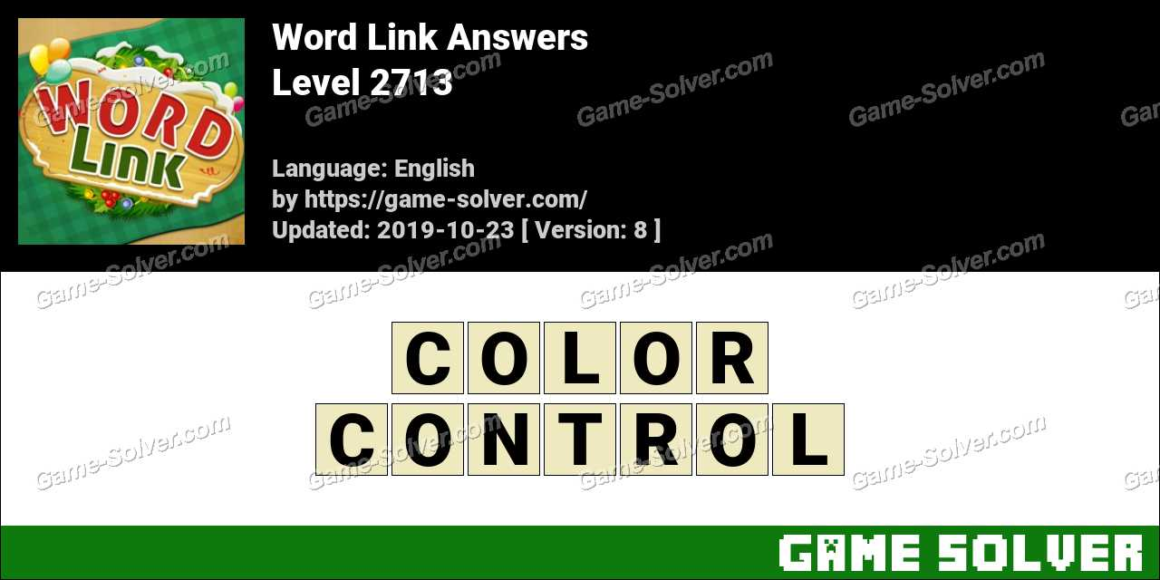 Word Link Level 2713 Answers