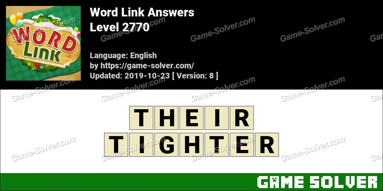Word Link Level 2770 Answers