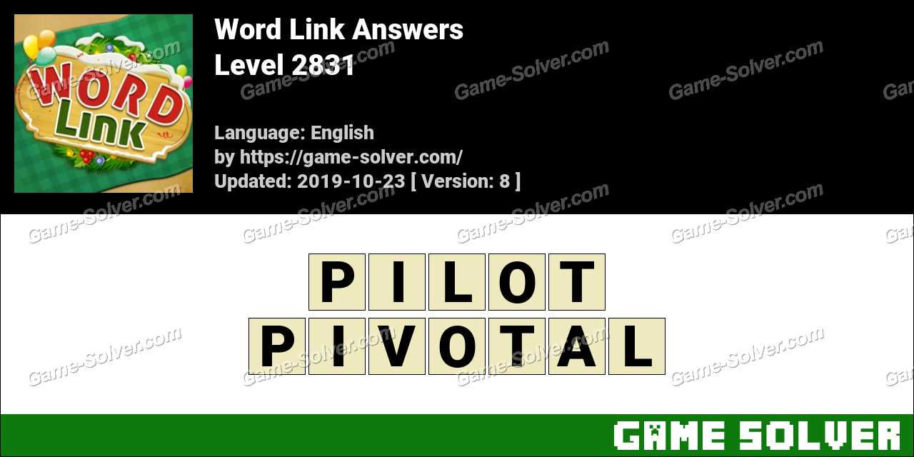Word Link Level 2831 Answers