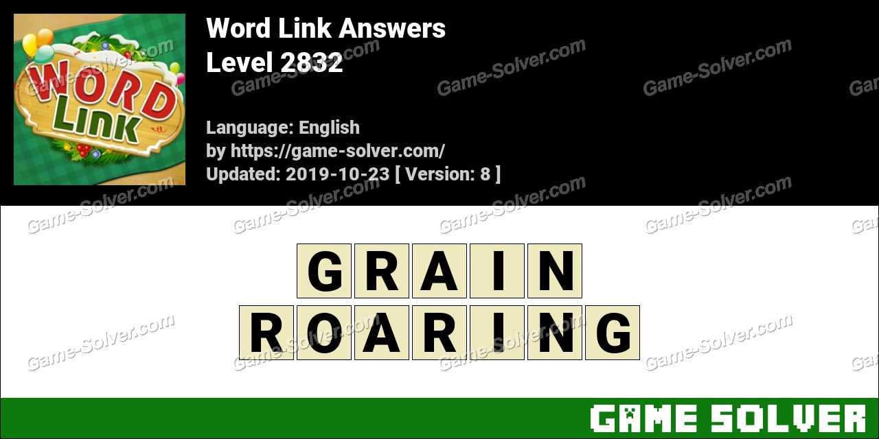 Word Link Level 2832 Answers