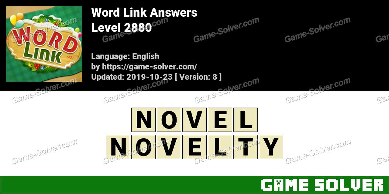 Word Link Level 2880 Answers