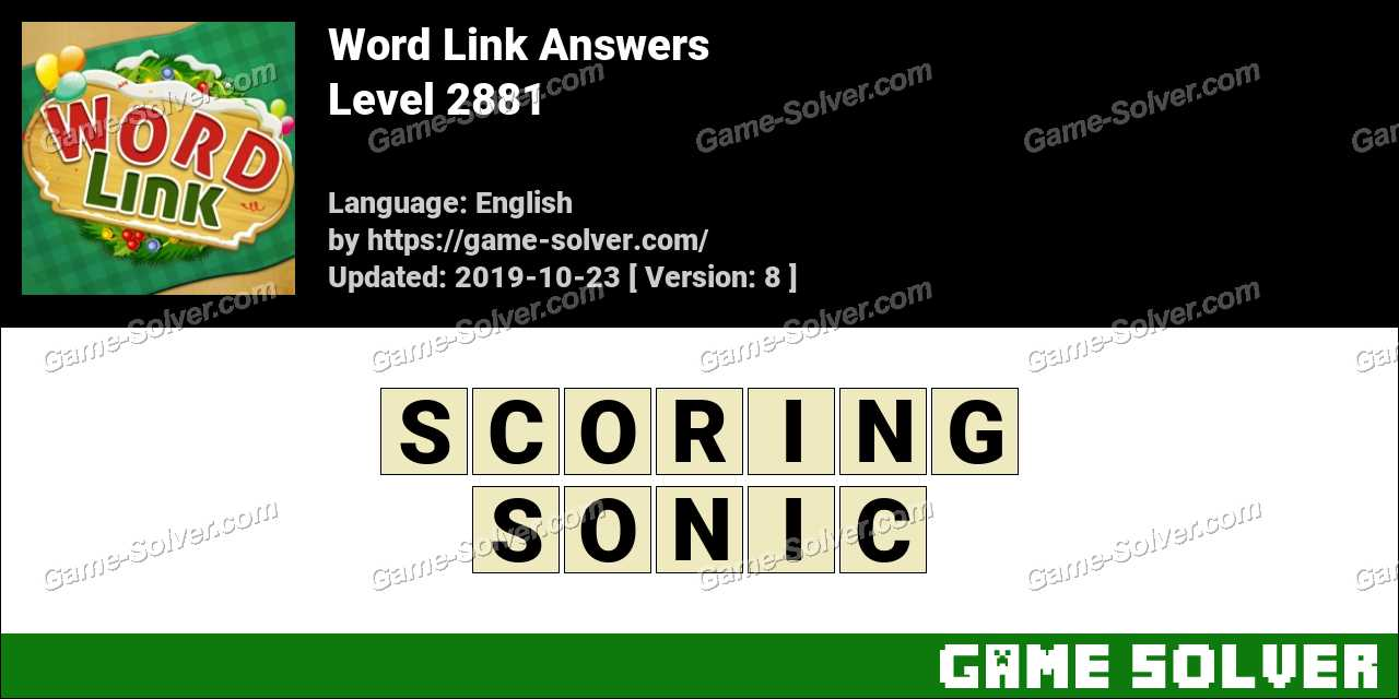 Word Link Level 2881 Answers
