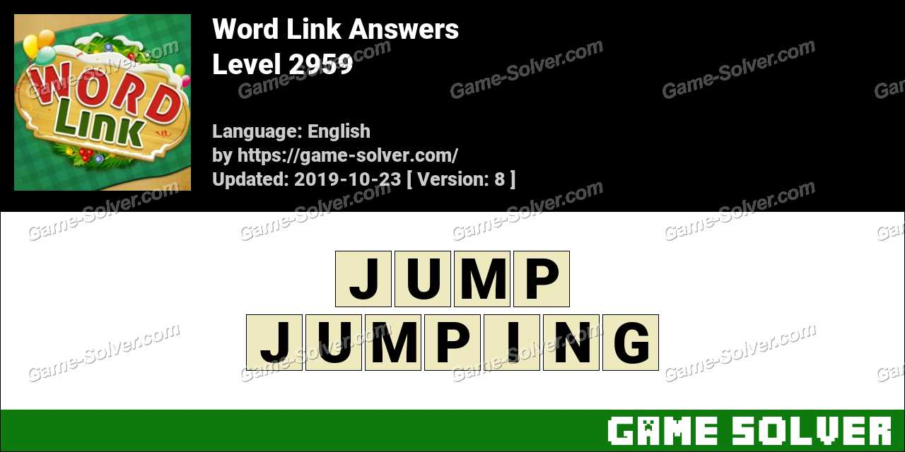 Word Link Level 2959 Answers