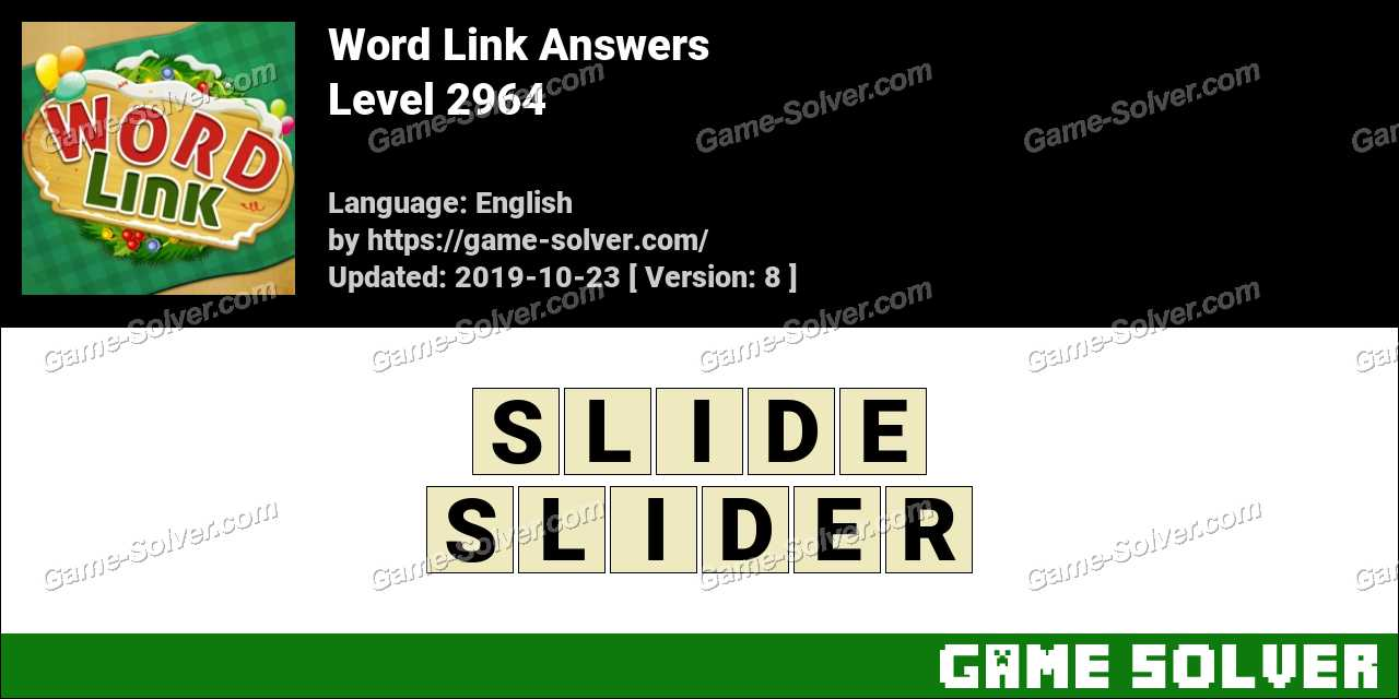Word Link Level 2964 Answers