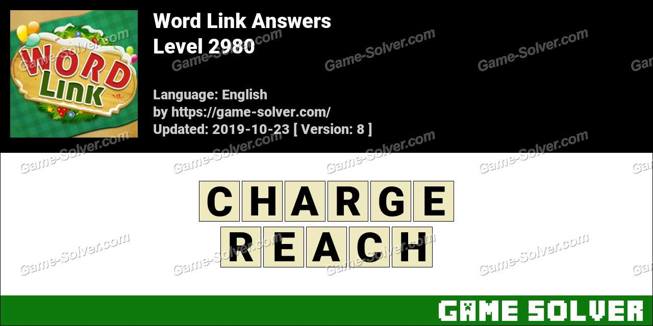 Word Link Level 2980 Answers