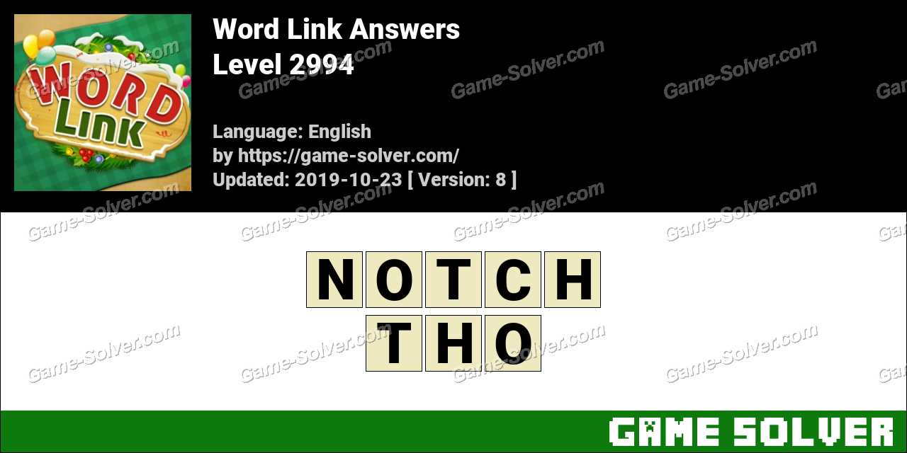 Word Link Level 2994 Answers
