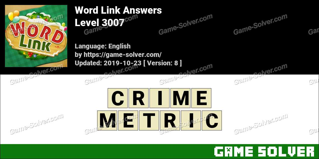 Word Link Level 3007 Answers