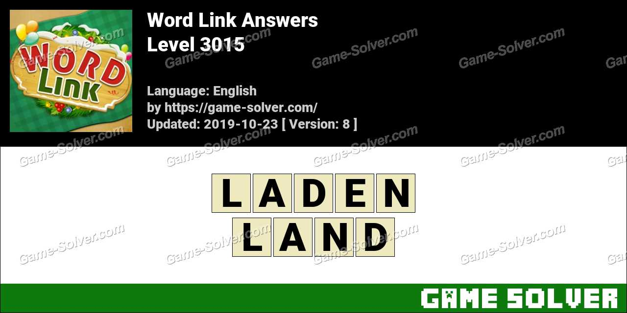Word Link Level 3015 Answers