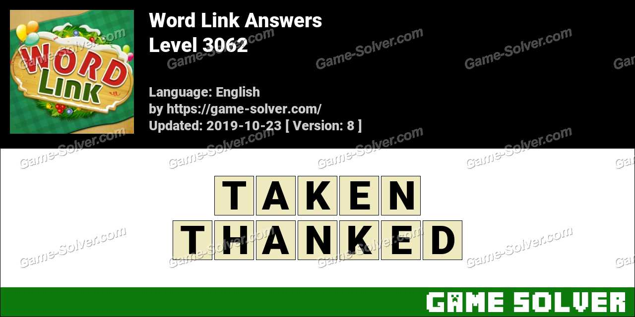 Word Link Level 3062 Answers