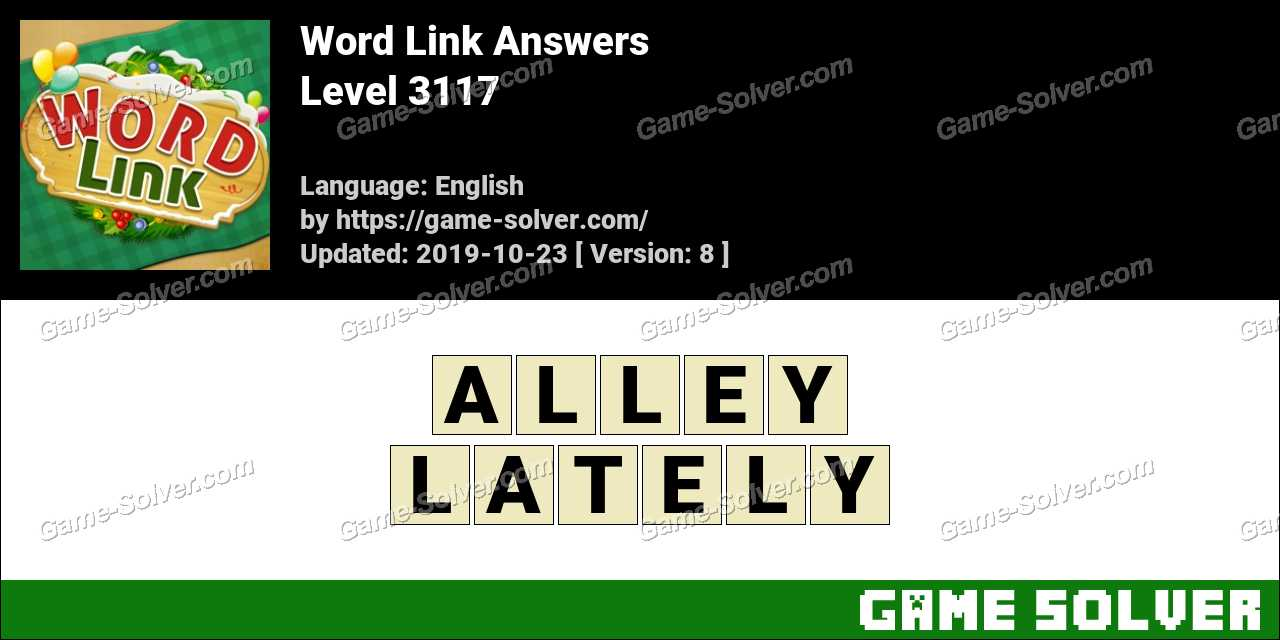 Word Link Level 3117 Answers