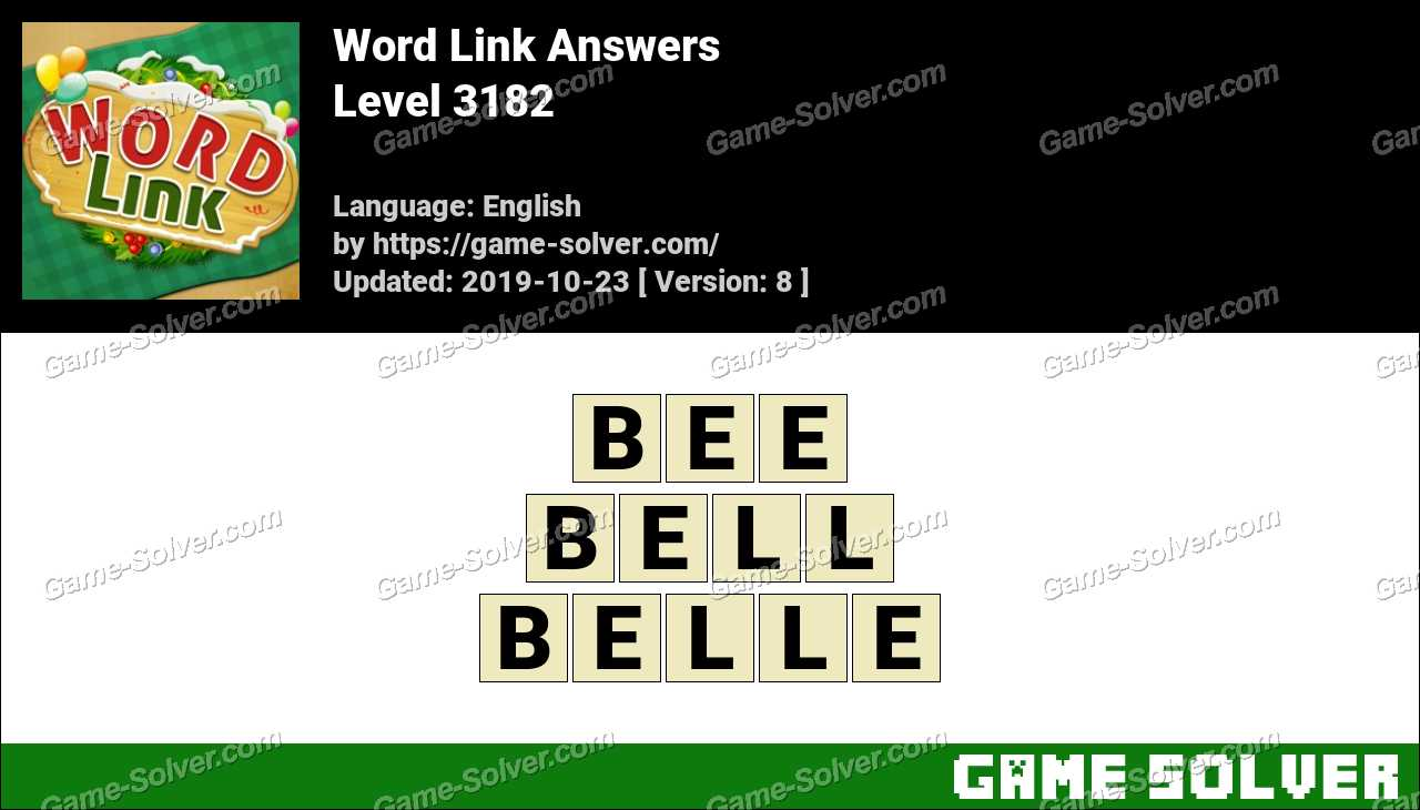 Word Link Level 3182 Answers