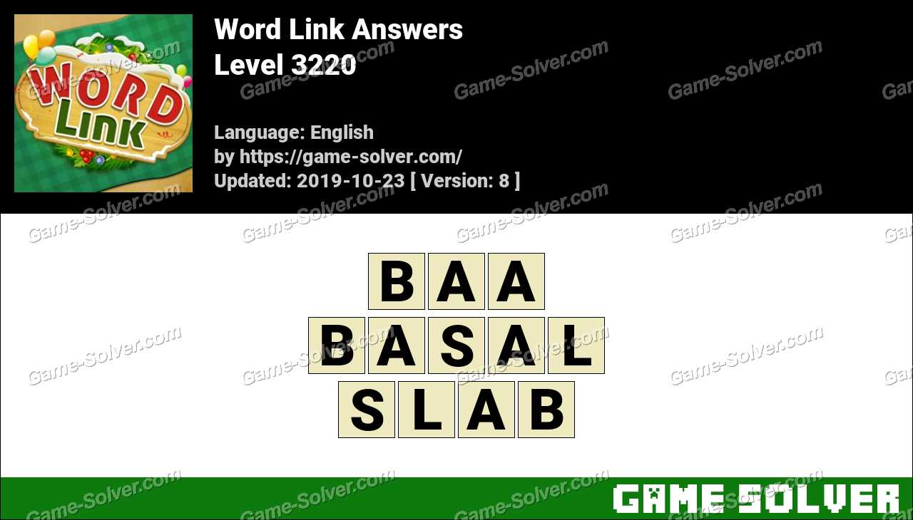 Word Link Level 3220 Answers