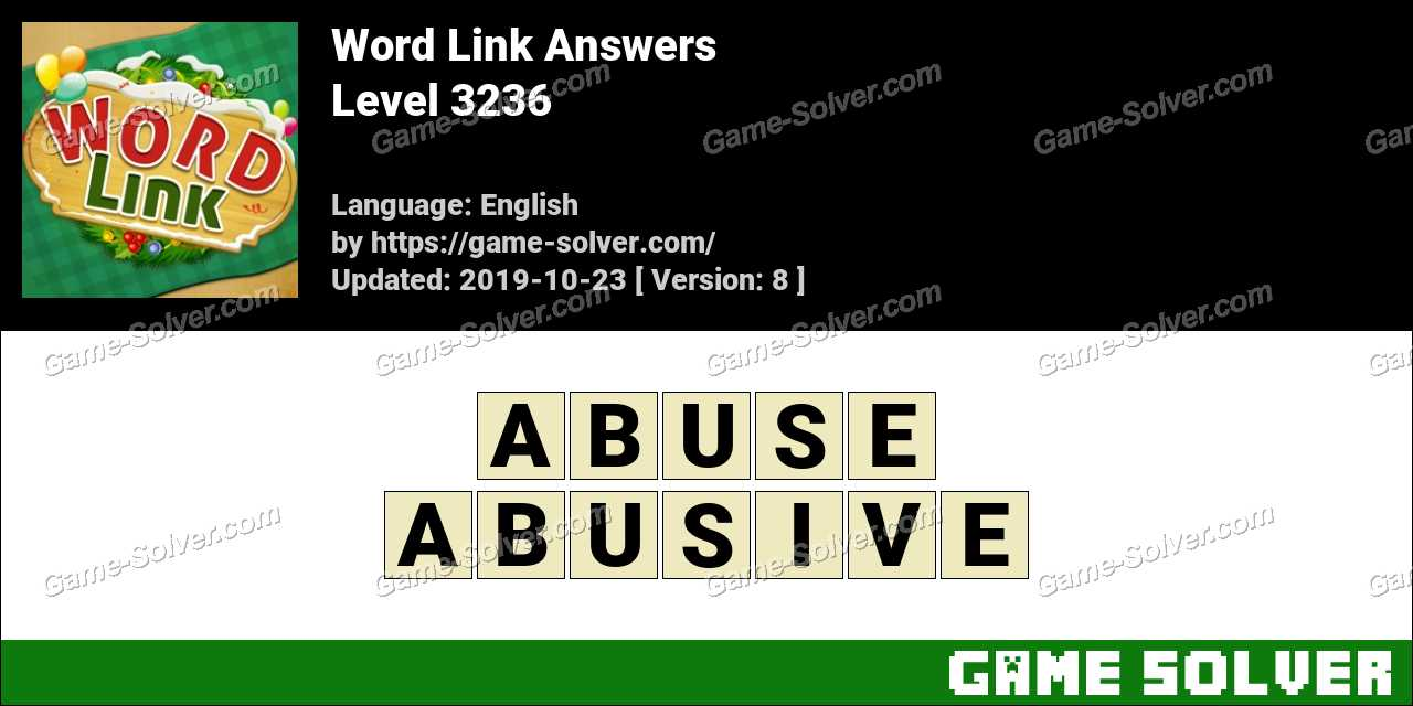 Word Link Level 3236 Answers