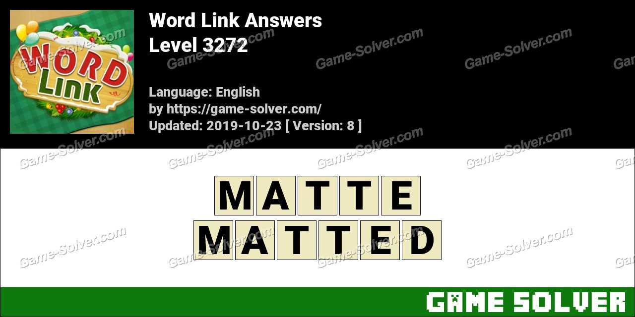 Word Link Level 3272 Answers