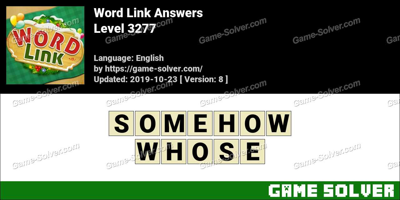 Word Link Level 3277 Answers