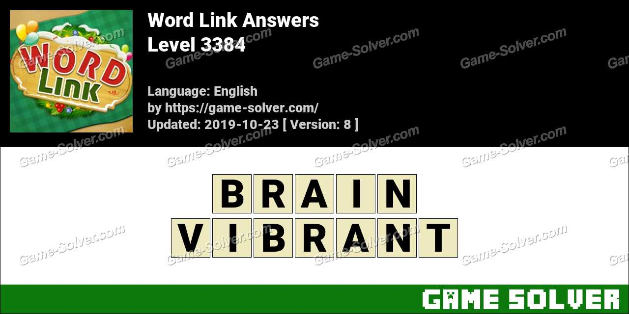 Word Link Level 3384 Answers