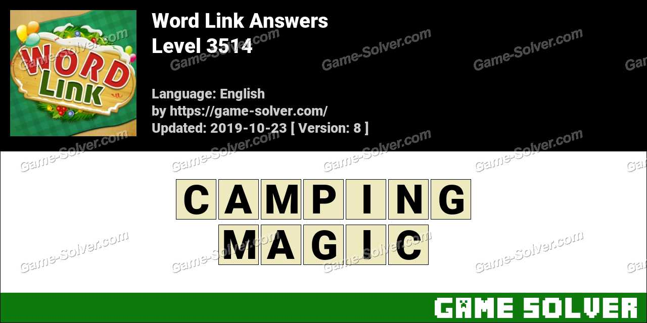 Word Link Level 3514 Answers